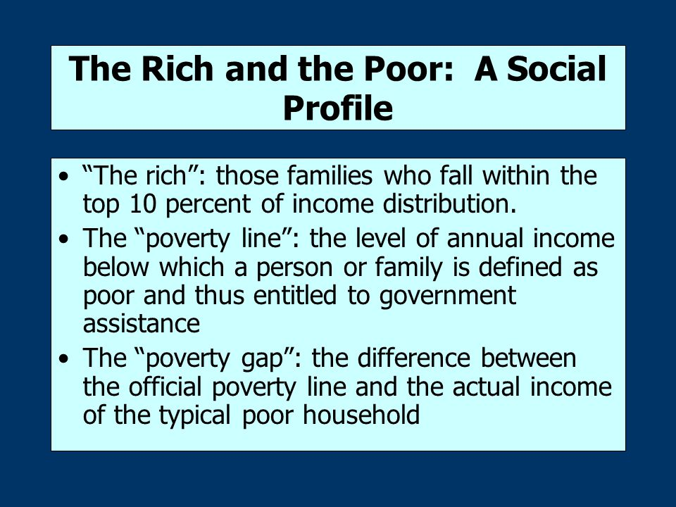 The Extent of Poverty Profile of the U.S.