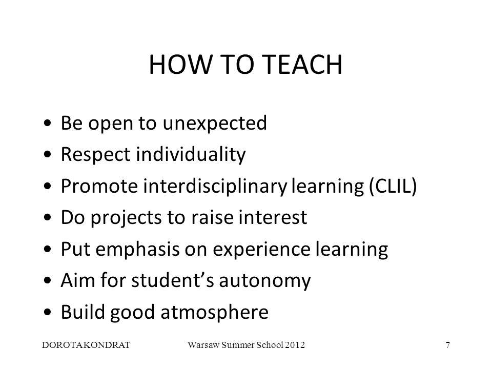 DOROTA KONDRATWarsaw Summer School 20128 HOW TO TEACH GRAMMAR What is grammar.