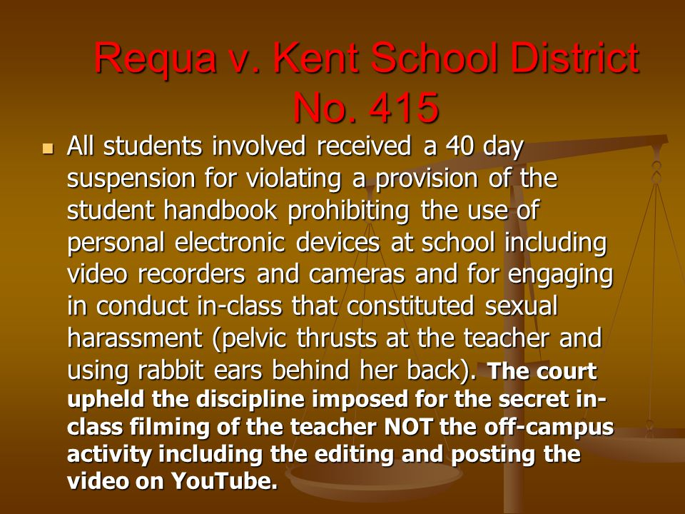 Requa v. Kent School District No.