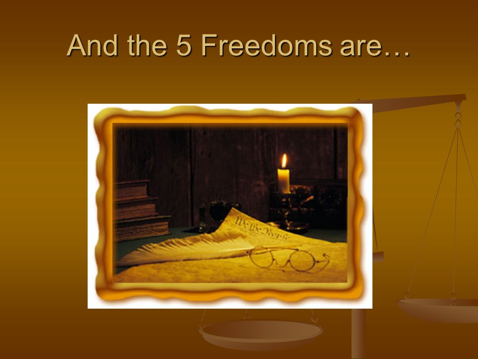 And the 5 Freedoms are…