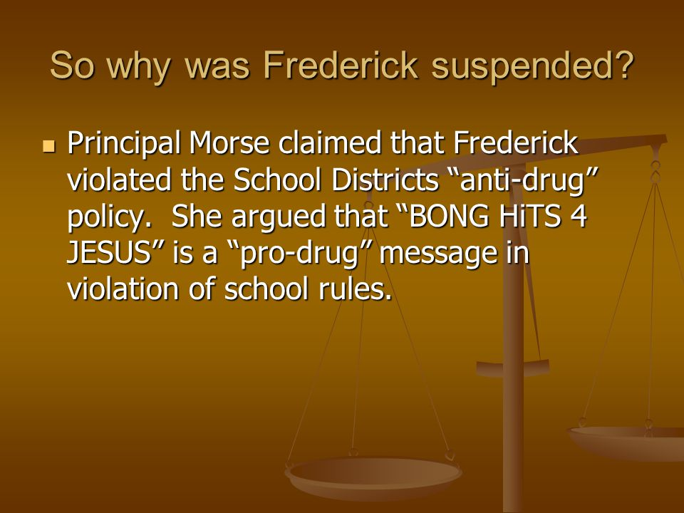 So why was Frederick suspended.