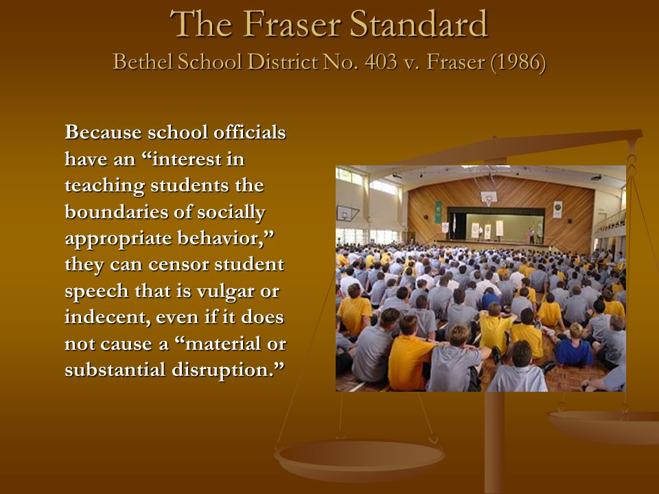 The Fraser Standard Bethel School District No. 403 v.