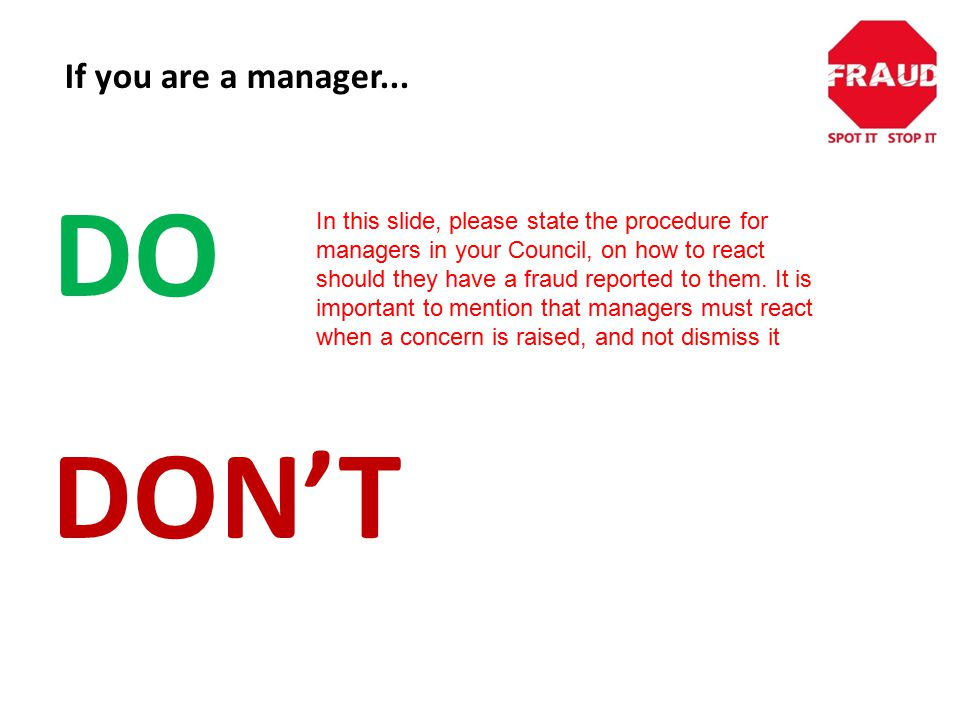 If you are a manager...