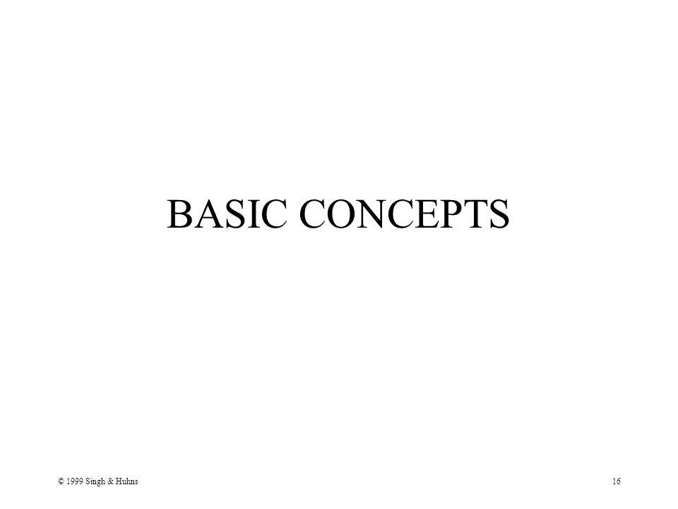 © 1999 Singh & Huhns16 BASIC CONCEPTS