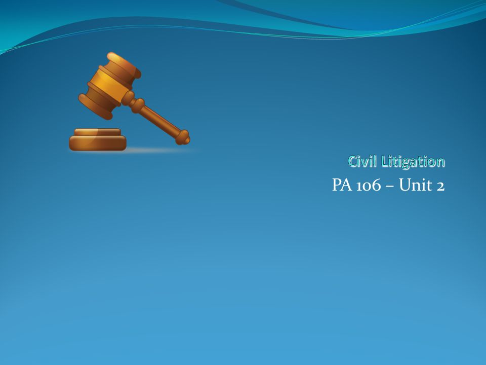 Litigation- Pleadings 1 st 2 nd 3 rd 4 th 5 th Pleadings // Discovery // Pre-Trial // Trial // Post
