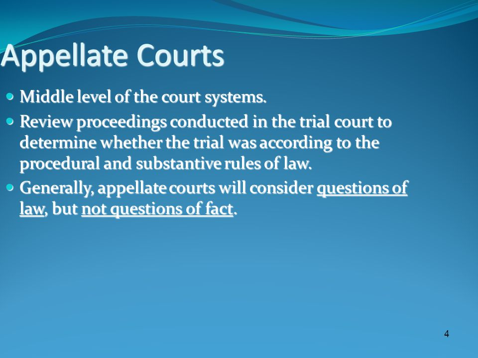 5 Supreme Courts Also known as courts of last resort.