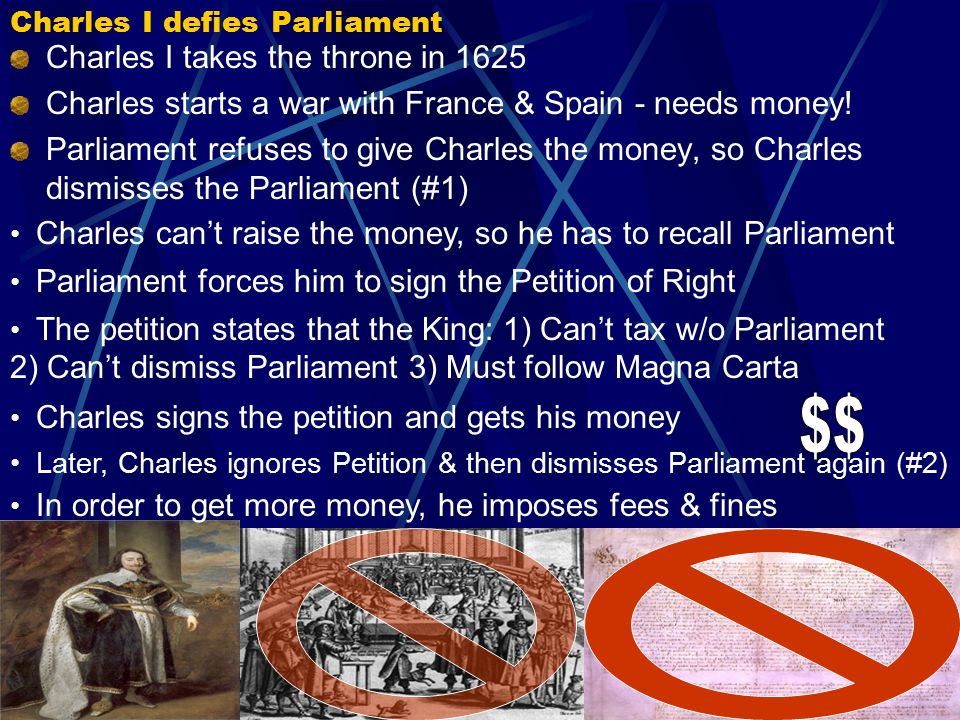 The English Civil War: Charles I vs. Parliament Why was Charles I overthrown as the King of England?