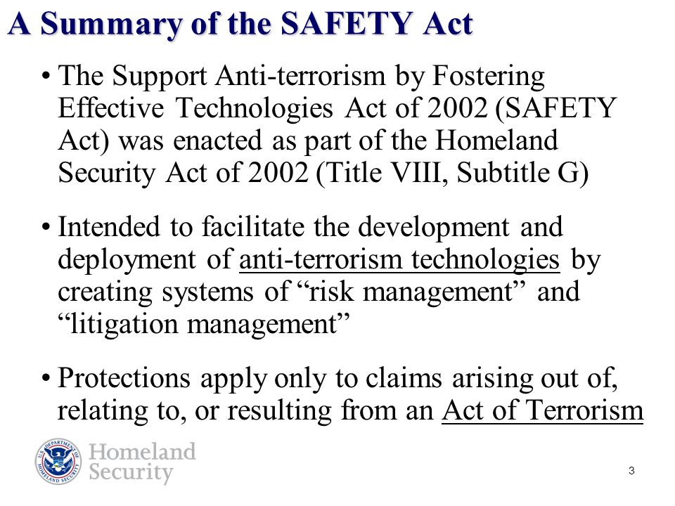 14 What Do We Look for in Terms of Effectiveness in a SAFETY Act Application.