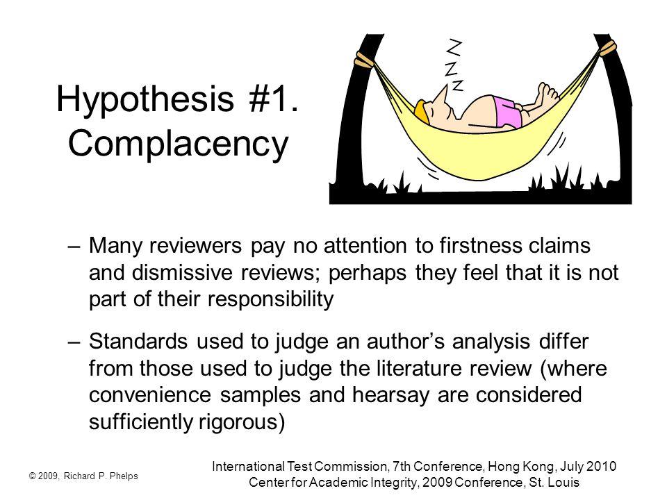 Hypothesis #1.