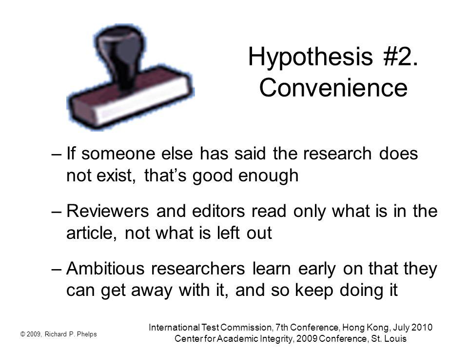 Hypothesis #2.