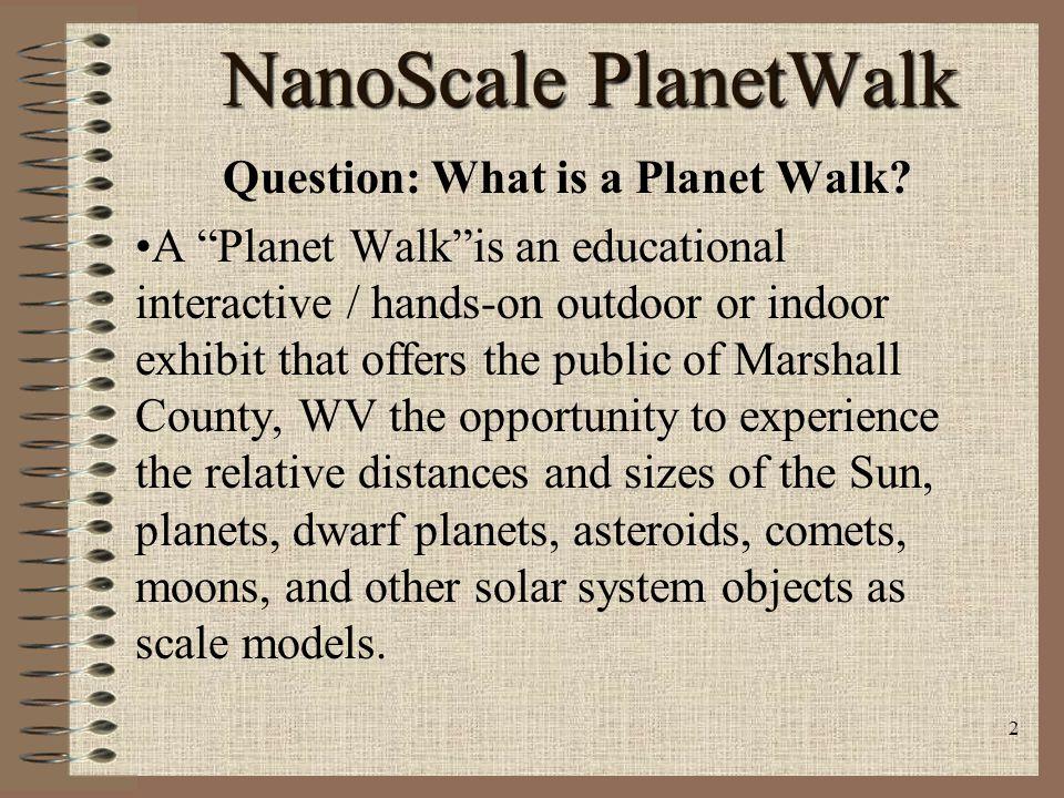 1 NanoScale PlanetWalk: Presented by Robert E. Strongrobert@smartcenter.orgrobert@smartcenter.org Elizabeth (Libby) Strongstrongli@smartcenter.orgstro
