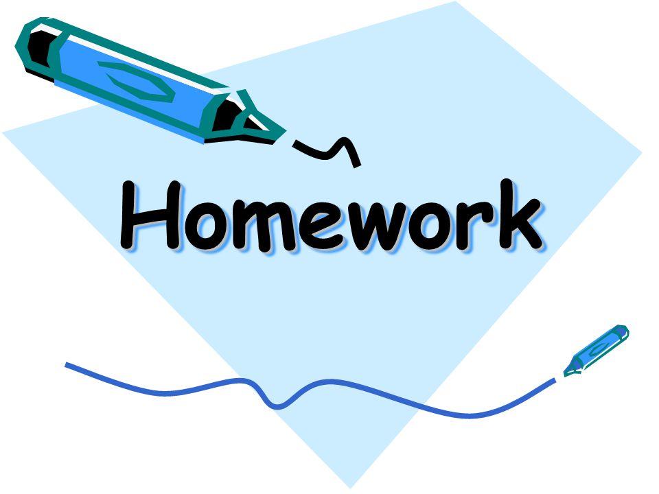HomeworkHomework