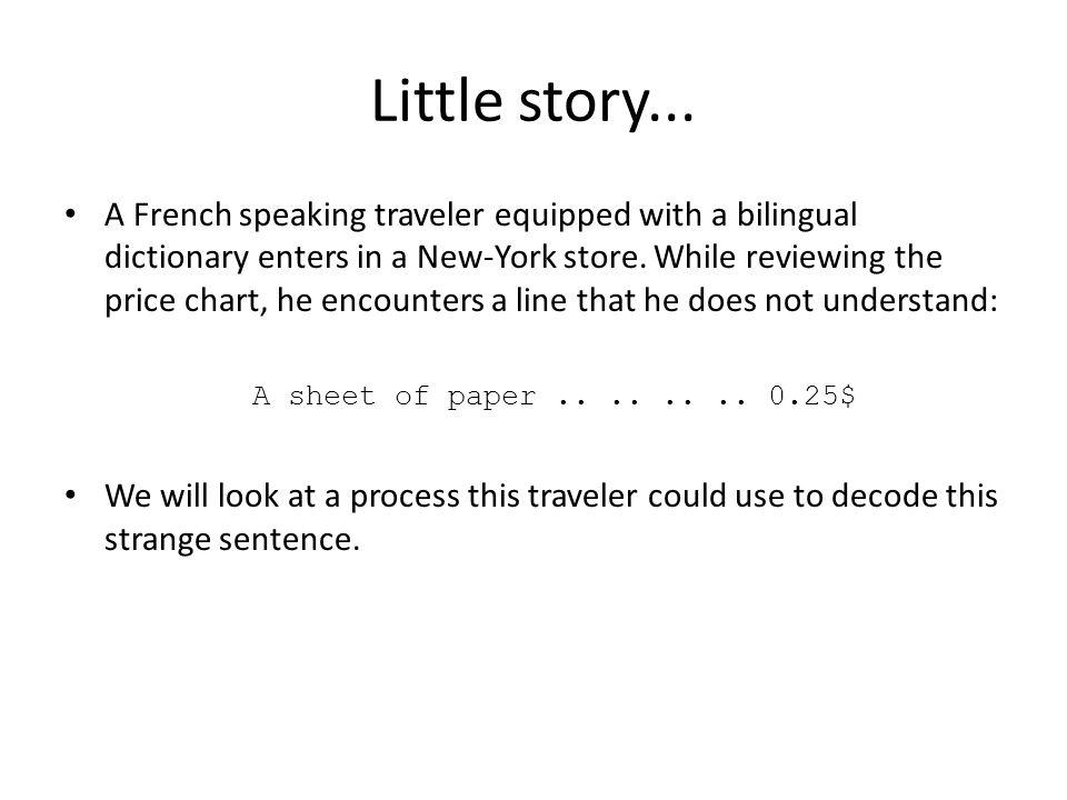 Little story...