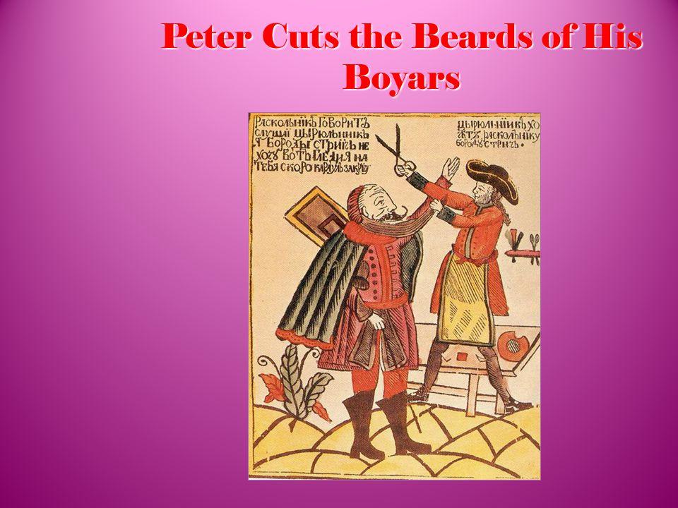 Peter Cuts the Beards of His Boyars