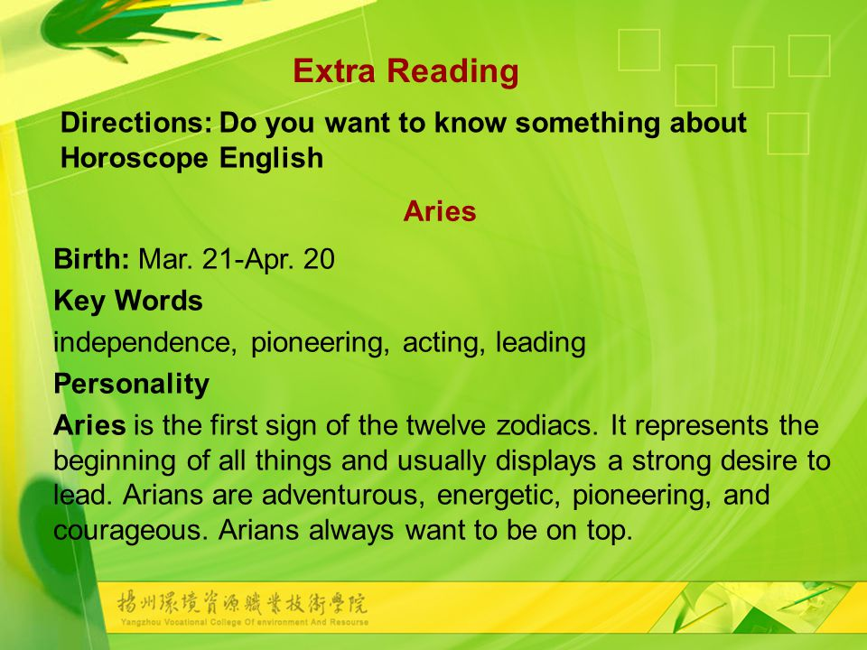 Birth: Mar. 21-Apr.