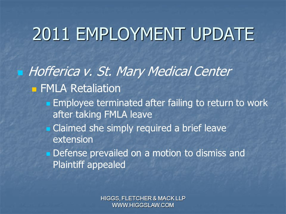 2011 EMPLOYMENT UPDATE Brinker Update (Continued…) Brinker Update (Continued…) Hernandez v.