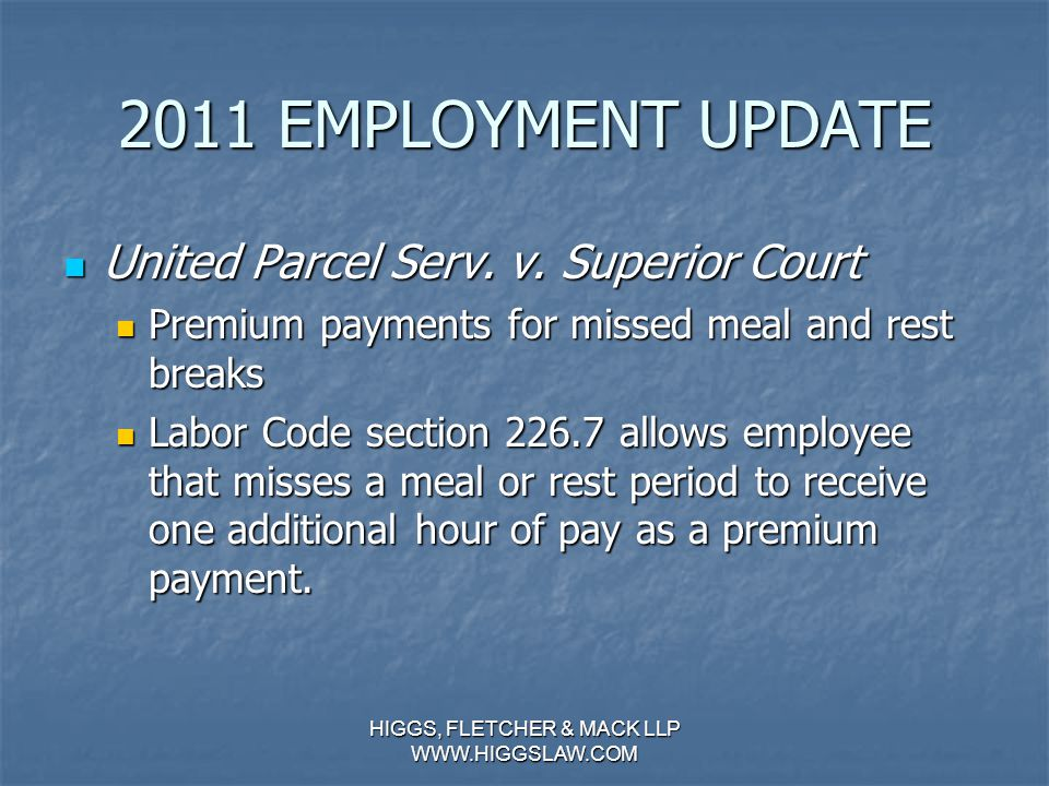2011 EMPLOYMENT UPDATE Thompson v. North Am. Stainless, LP (Continued…) Thompson v.