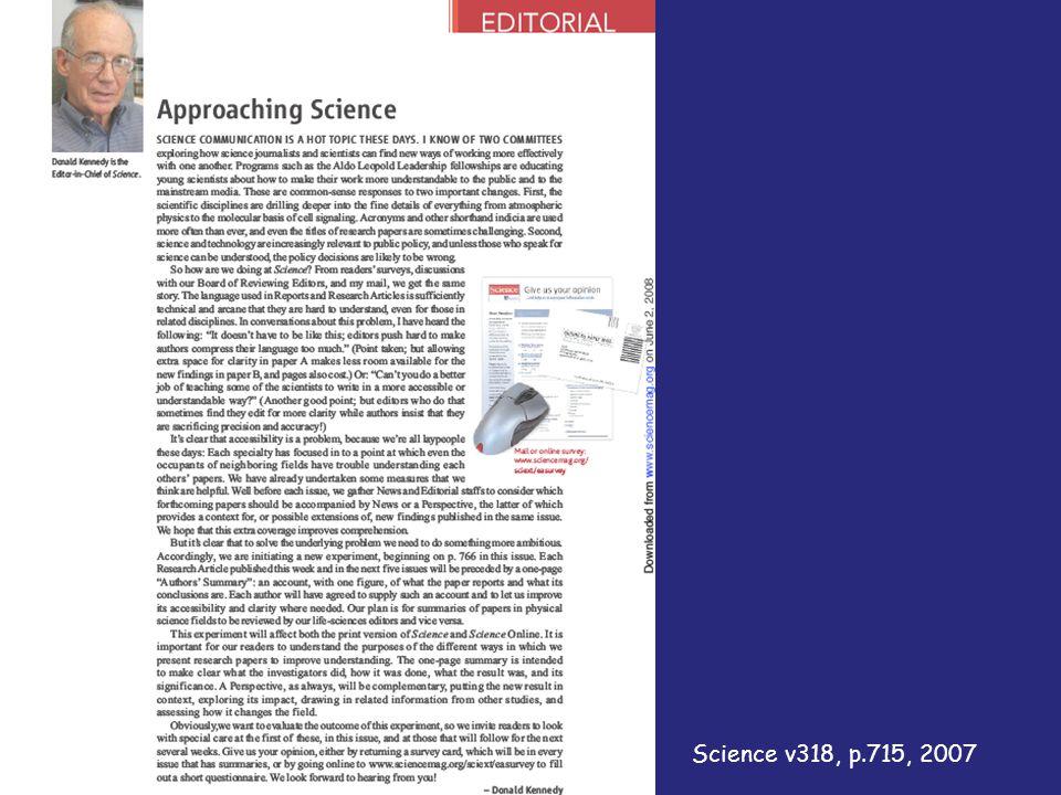 Science v318, p.715, 2007
