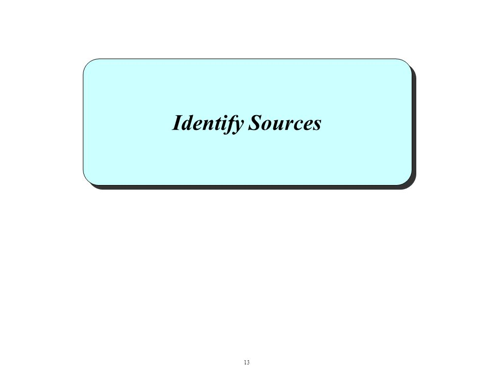 Identify Sources 13