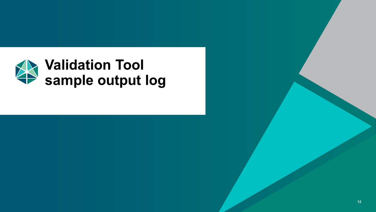 3 May 2015 AllSeen Alliance 14 Validation Tool sample output log