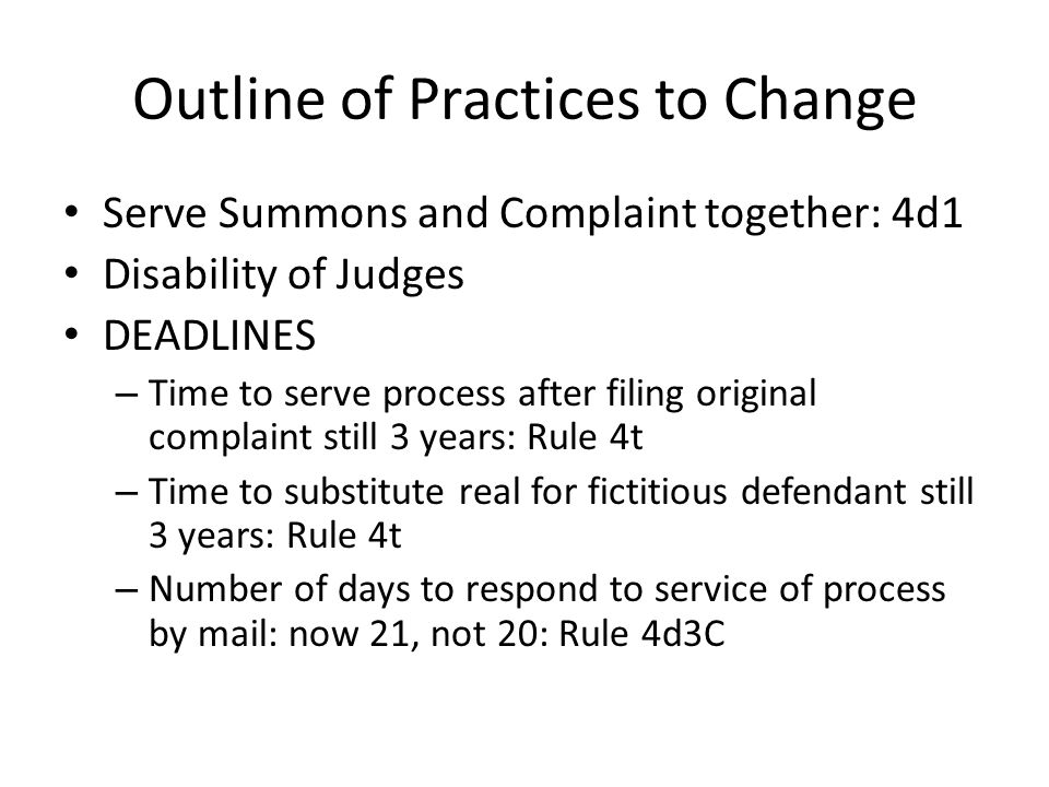 Outline of changes, cont'd A.G.