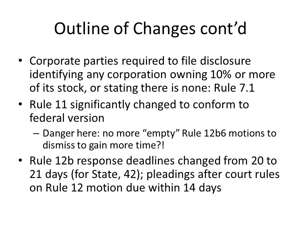 Proposed Rule 7.1 (a) Who Must File; Contents.