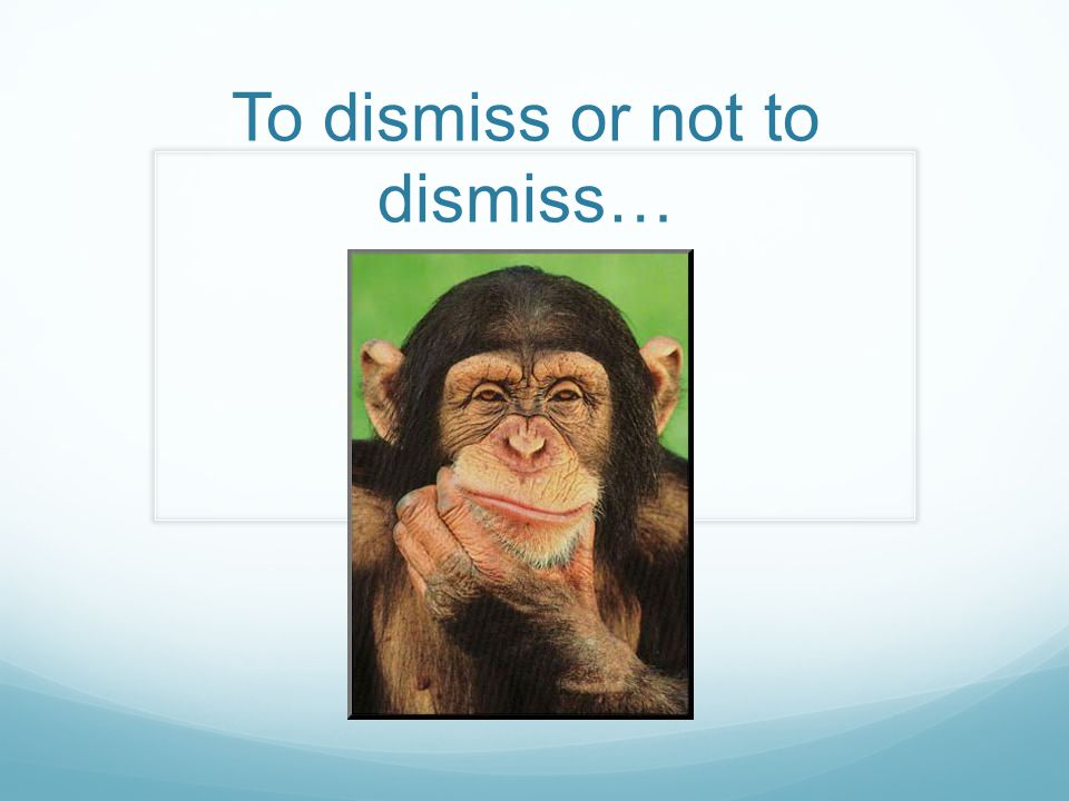 To dismiss or not to dismiss…