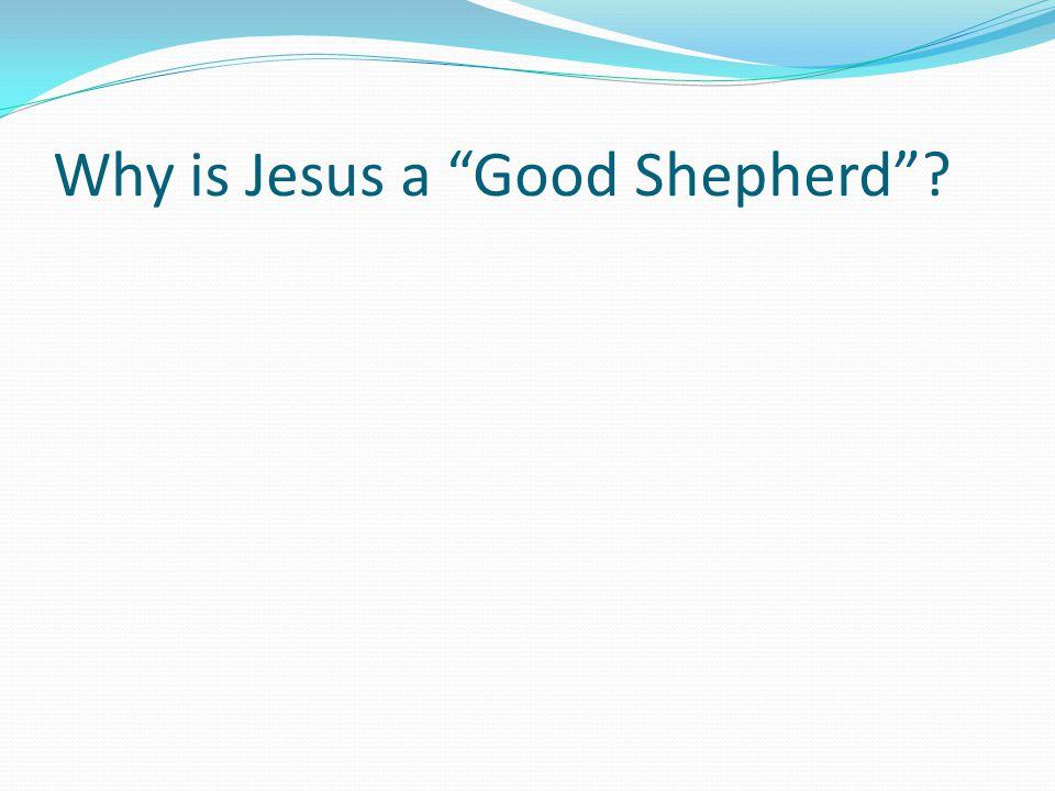 Why is Jesus a Good Shepherd