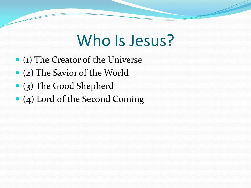 Who Is Jesus.