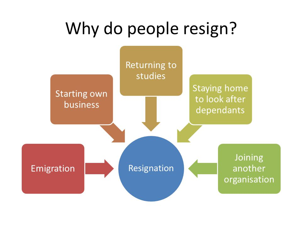 Why do people resign.