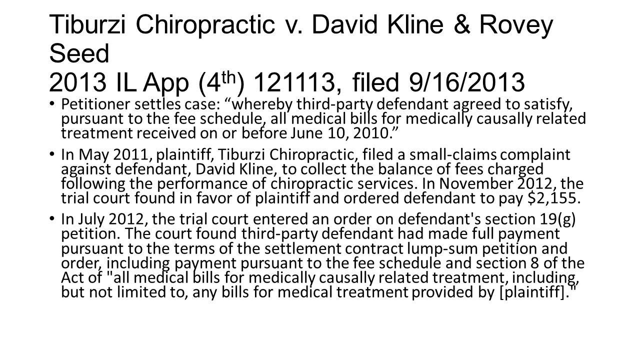 Tiburzi Chiropractic v.