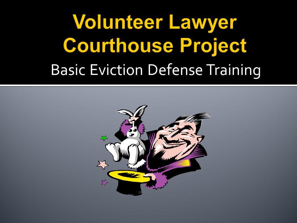 Basic Eviction Defense Training