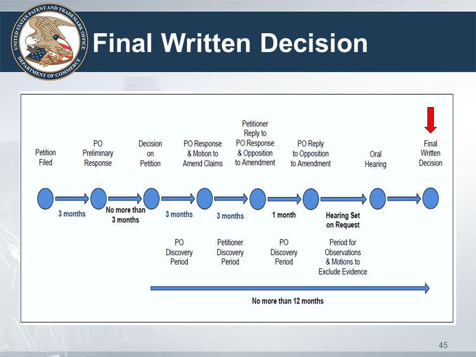 Final Written Decision 45