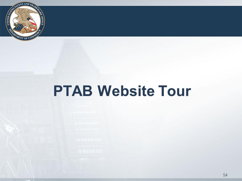 PTAB Website Tour 54