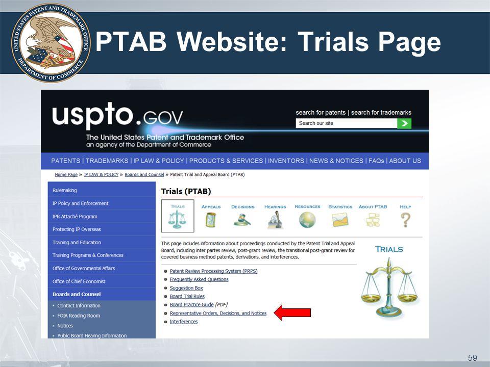 PTAB Website: Trials Page 59