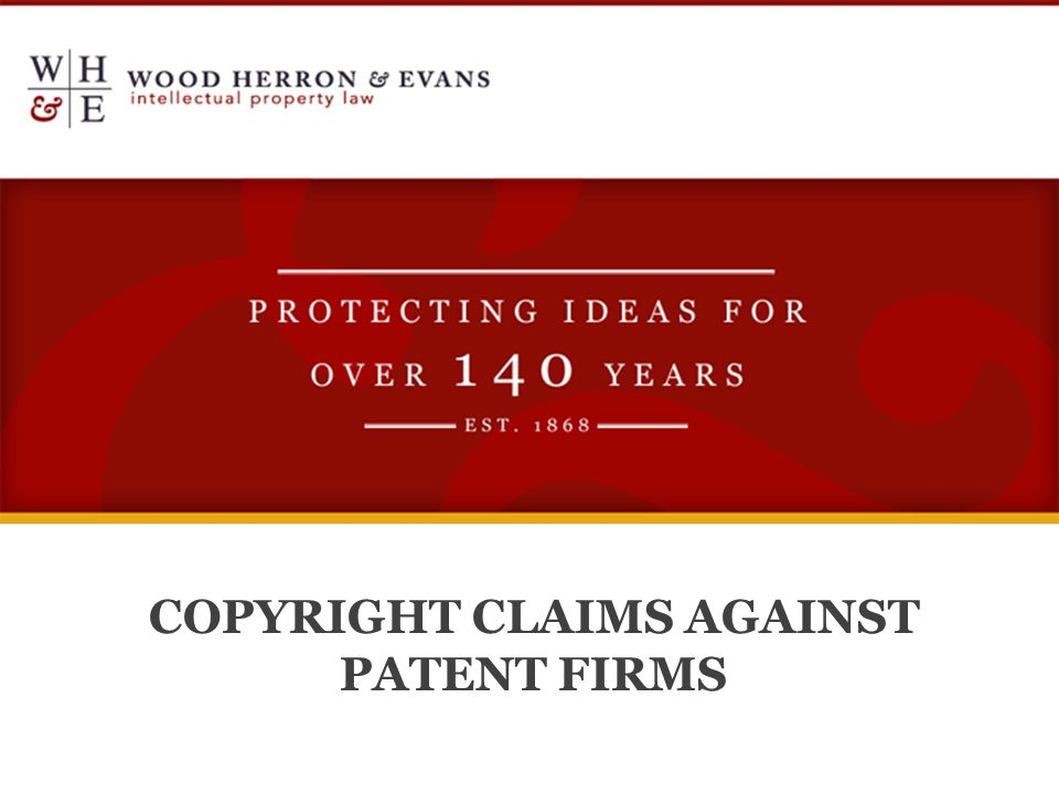 COPYRIGHT CLAIMS AGAINST PATENT FIRMS