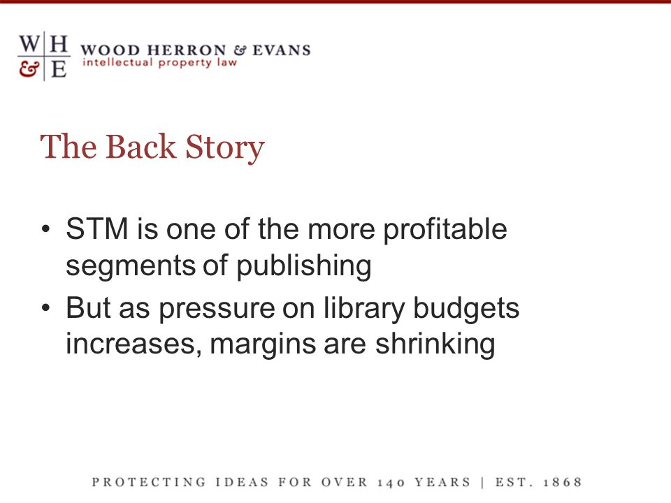 The Back Story STM is one of the more profitable segments of publishing But as pressure on library budgets increases, margins are shrinking