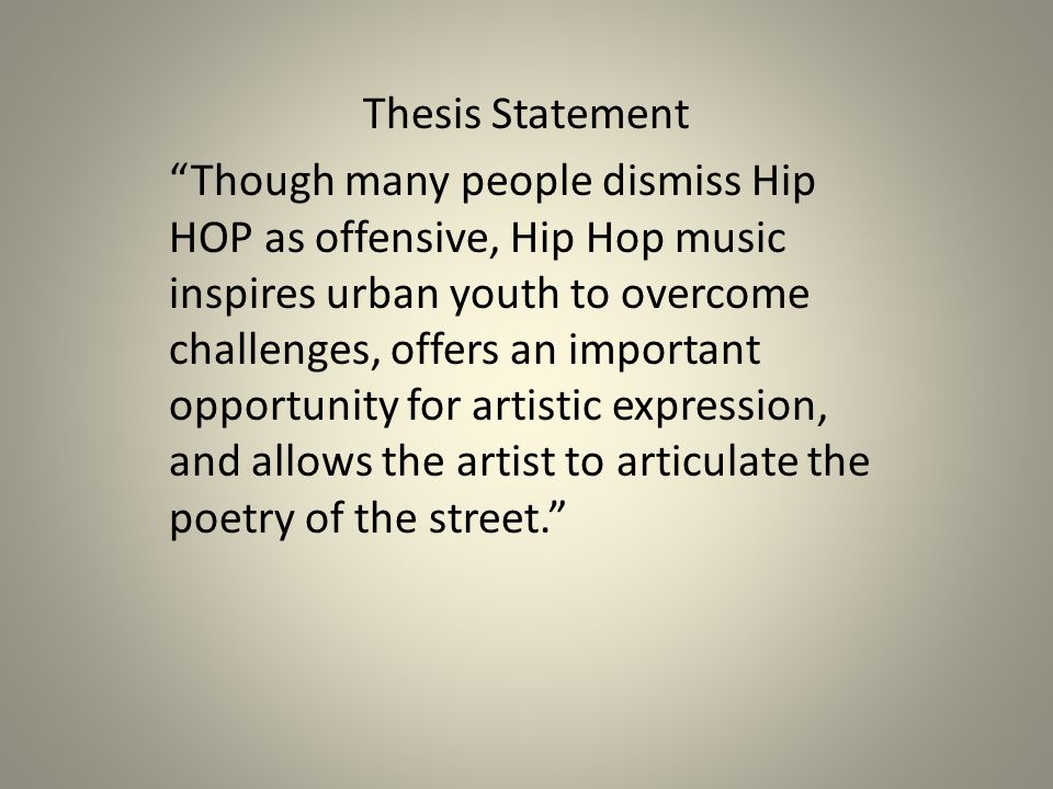 The Thesis statement has two messages.
