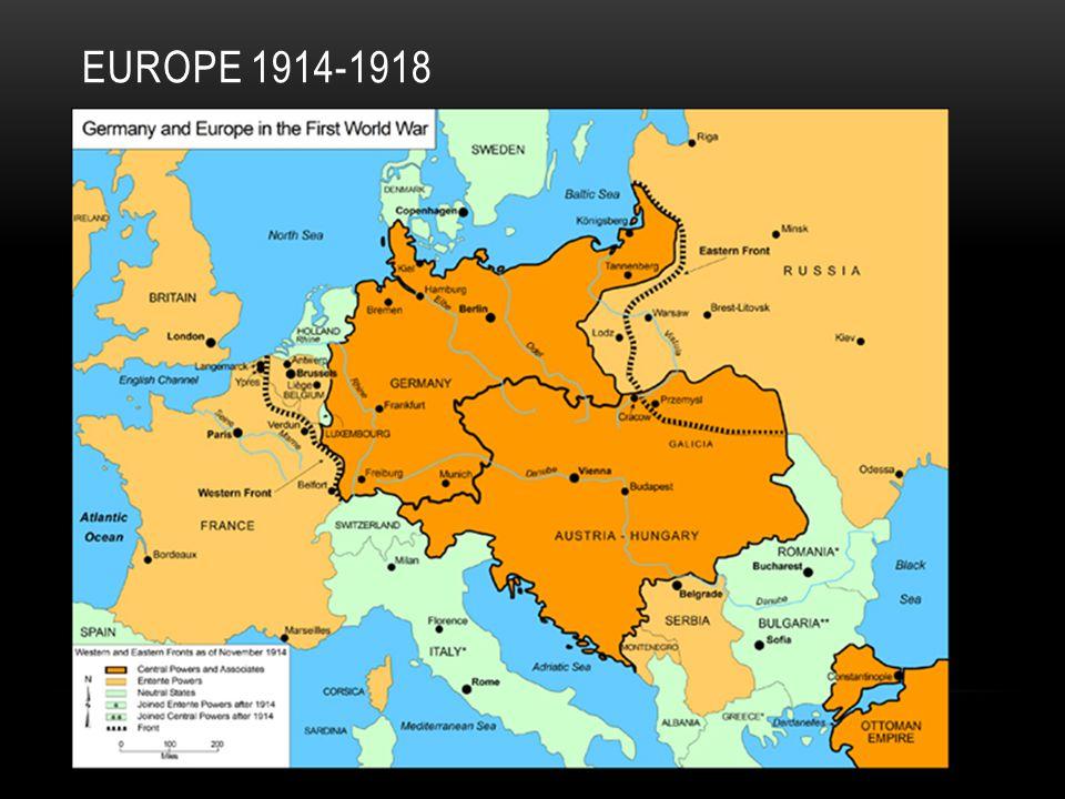 EUROPE 1914-1918