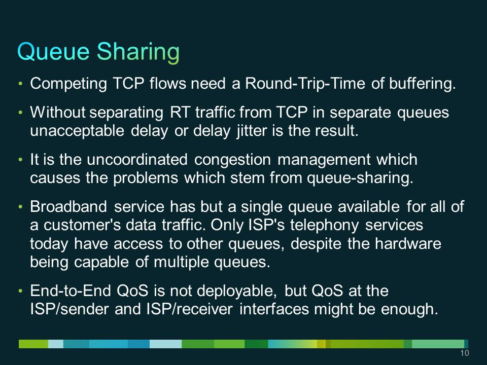 10 Competing TCP flows need a Round-Trip-Time of buffering.