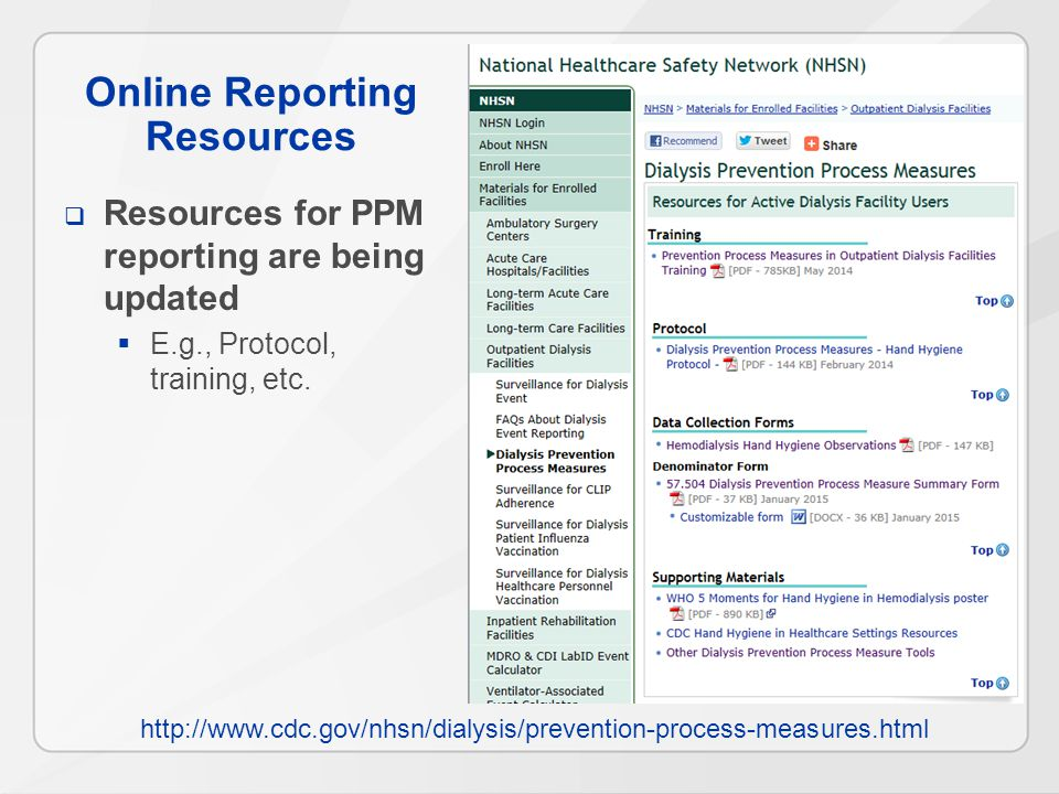 Online Reporting Resources  Resources for PPM reporting are being updated  E.g., Protocol, training, etc.
