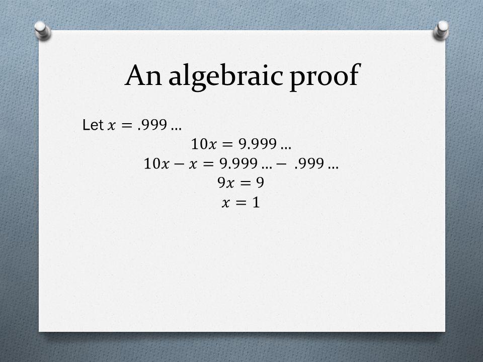 An algebraic proof