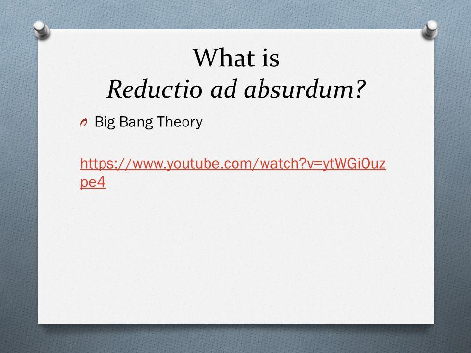 What is Reductio ad absurdum.
