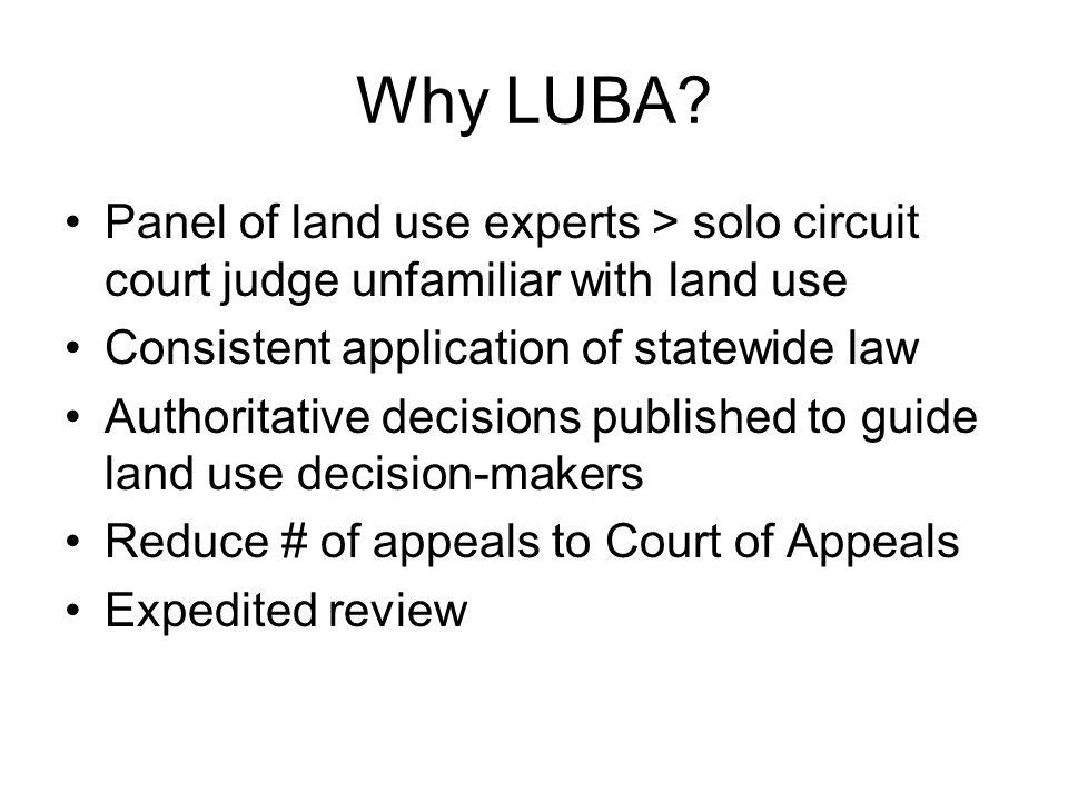 Why LUBA.