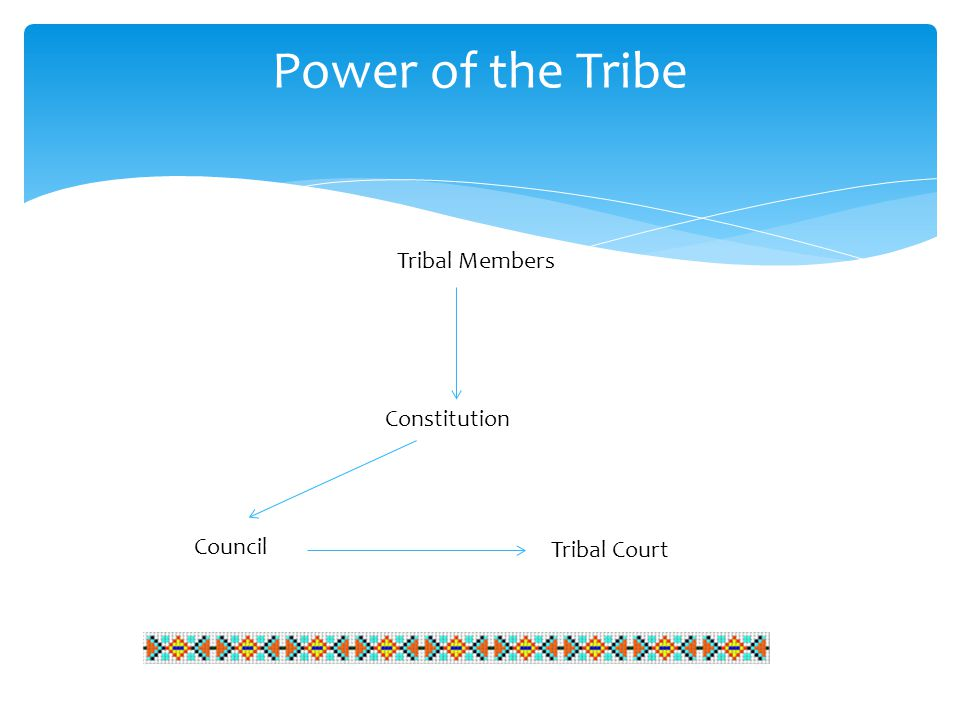 Power of the Tribe Tribal Members Council Constitution Tribal Court
