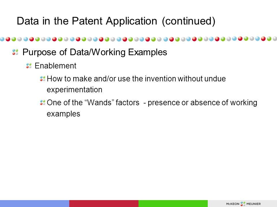 Data Provided During Litigation (Genetics Institute v.