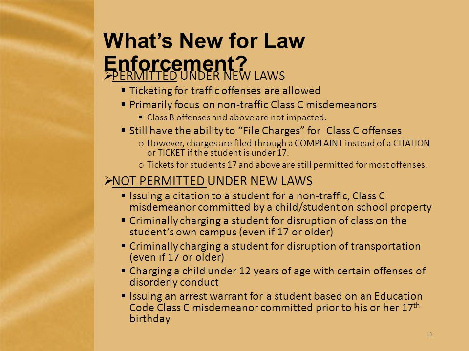 What's New for Law Enforcement.