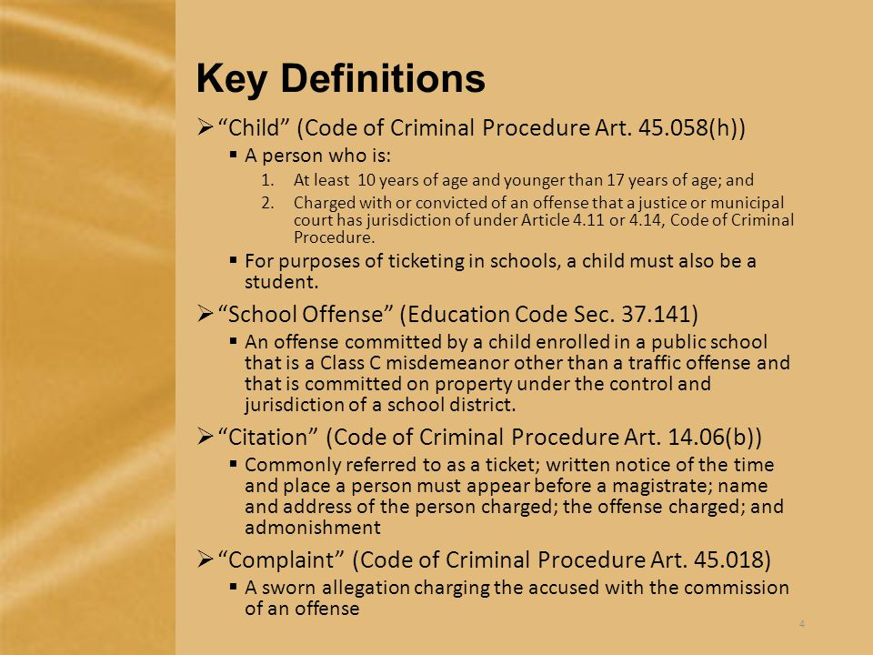 Classes of Offenses (Penal Code Ch.