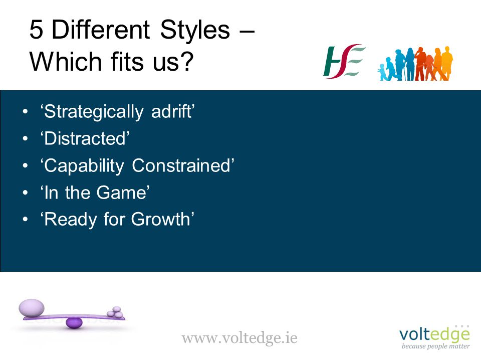 www.voltedge.ie 5 Different Styles – Which fits us.