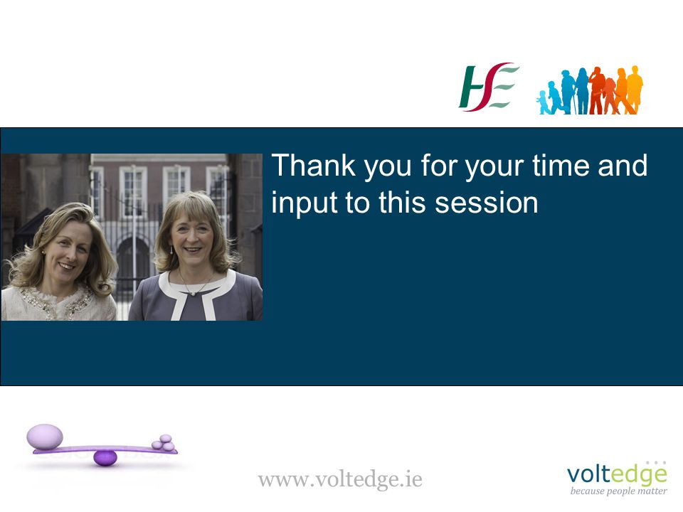 www.voltedge.ie Thank you for your time and input to this session